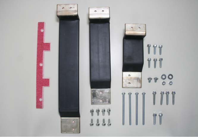 Parts of a Panel Mount Switch Mounting Kit
